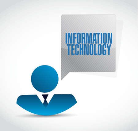 information design: information technology businessman sign concept illustration design graphic Illustration