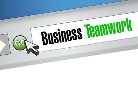 businessteam: business teamwork online sign concept illustration design graphic