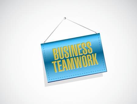 businessteam: business teamwork banner graph sign concept illustration design graphic Illustration