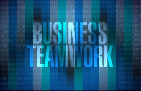 businessteam: business teamwork button sign concept illustration design graphic Illustration