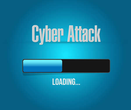 cyber attack: cyber attack loading bar sign concept illustration design graphic Illustration