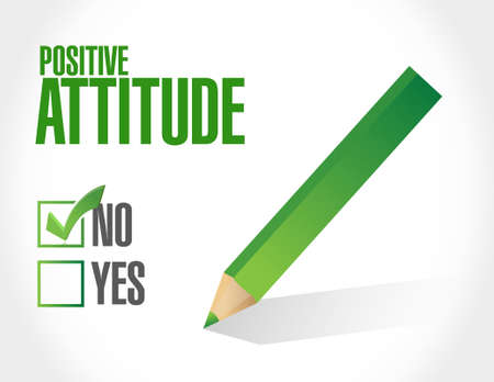 positive attitude: no Positive attitude international sign concept illustration design graphic