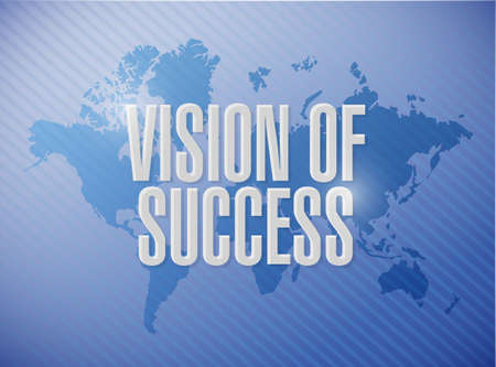 marketanalyze: vision of success world map sign concept illustration design graphic Stock Photo