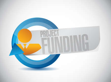 grants: Project Funding businessman cycle sign concept illustration design graphic