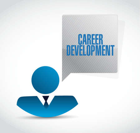 personal contribution: career development businessman sign concept illustration design graphic