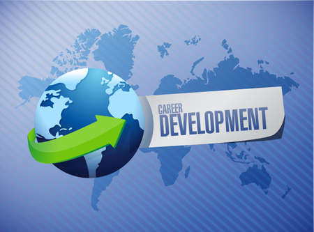 personal contribution: career development international sign concept illustration design graphic