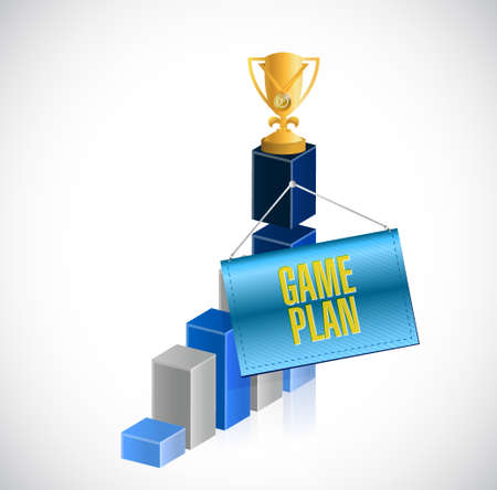 business game: Game plan business graph sign concept illustration design graphic