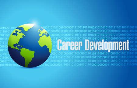 personal contribution: career development international sign concept illustration design graphic
