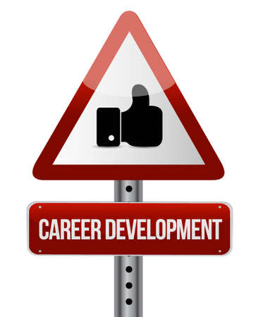 personal contribution: career development like sign concept illustration design graphic