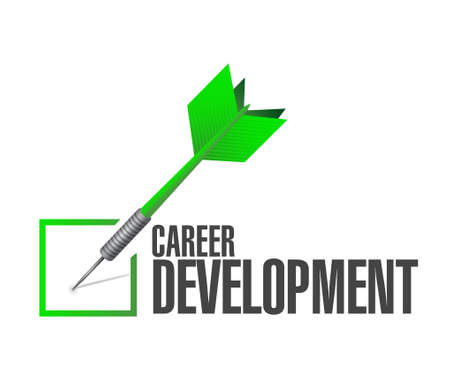 personal contribution: career development check dart sign concept illustration design graphic