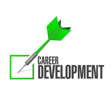 personal contribution: career development check dart sign concept illustration design graphic