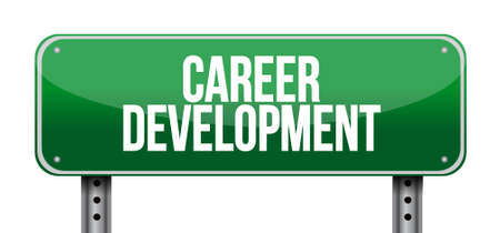 personal contribution: career development road sign concept illustration design graphic