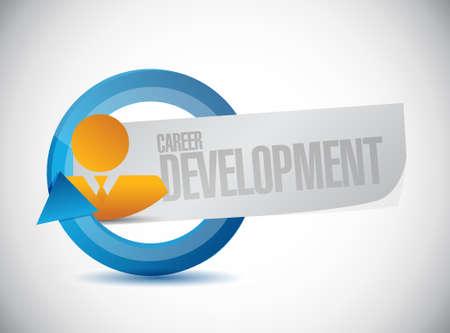 personal contribution: career development avatar business sign concept illustration design graphic