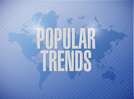 stock predictions: popular trends world map sign concept sign illustration design graphic