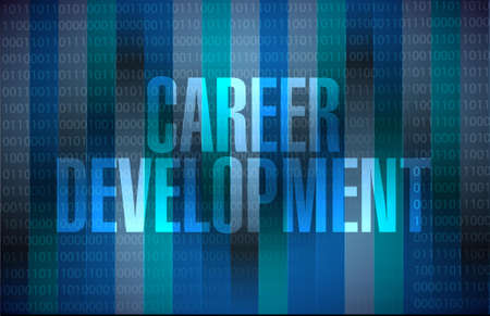 personal contribution: career development sign concept illustration design graphic