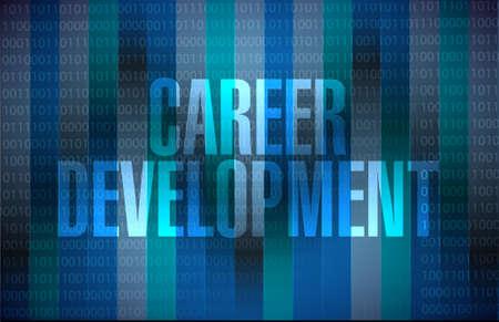 personal contribution: career development sign concept illustration design graphic