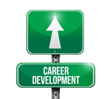 personal contribution: career development road sign concept illustration design graphic