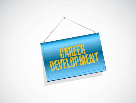 personal contribution: career development banner sign concept illustration design graphic