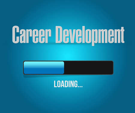 personal contribution: career development loading bar sign concept illustration design graphic Stock Photo
