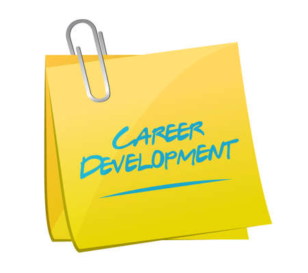 personal contribution: career development memo post sign concept illustration design graphic