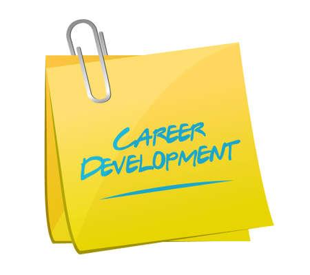 personal contribution: career development memo post sign concept illustration design graphic