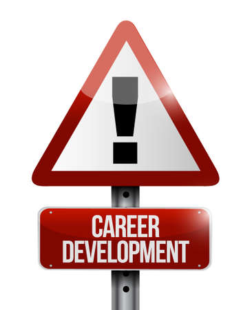 personal contribution: career development warning sign concept illustration design graphic Stock Photo