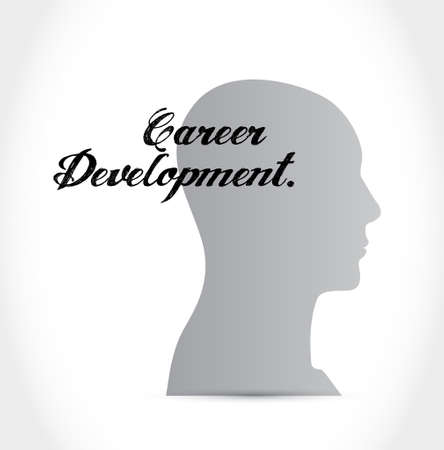 personal contribution: career development mind sign concept illustration design graphic Stock Photo