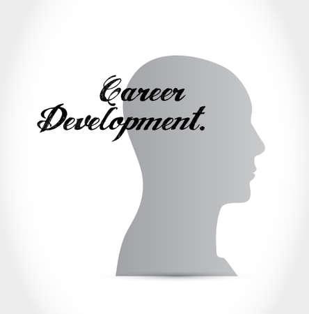 personal contribution: career development mind sign concept illustration design graphic Stock Photo