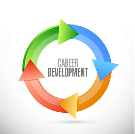 personal contribution: career development color cycle sign concept illustration design graphic