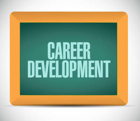 personal contribution: career development board sign concept illustration design graphic