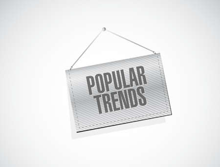 stock predictions: popular trends banner sign concept sign illustration design graphic Stock Photo