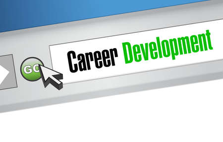 personal contribution: career development online sign concept illustration design graphic
