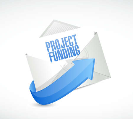 fundraising: Project Funding mail sign concept illustration design graphic Stock Photo