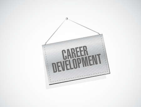 personal contribution: career development banner sign concept illustration design graphic