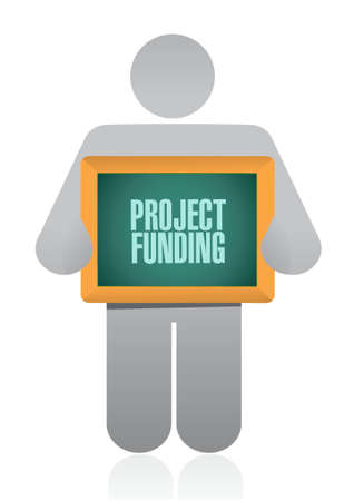 grants: Project Funding board sign concept illustration design graphic