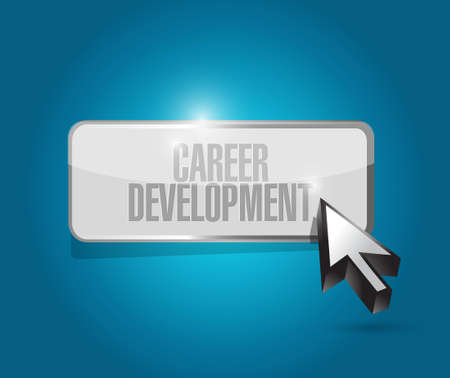 personal contribution: career development button sign concept illustration design graphic Stock Photo