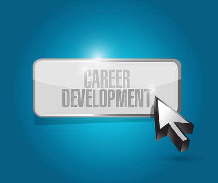 personal contribution: career development button sign concept illustration design graphic Stock Photo