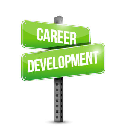 personal contribution: career development street sign concept illustration design graphic
