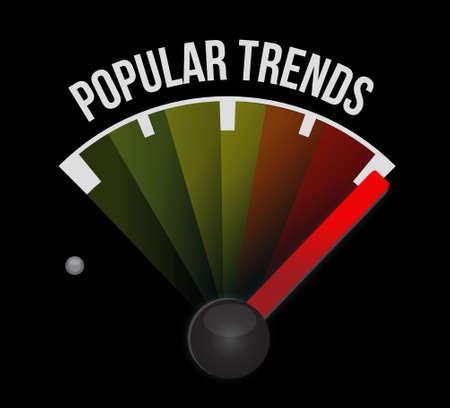popular: popular trends meter sign concept illustration Stock Photo