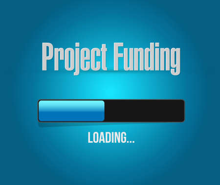 Project Funding search bar sign concept illustration design graphic 스톡 콘텐츠