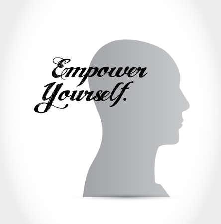 empower: Empower Yourself mind sign concept illustration design graphic
