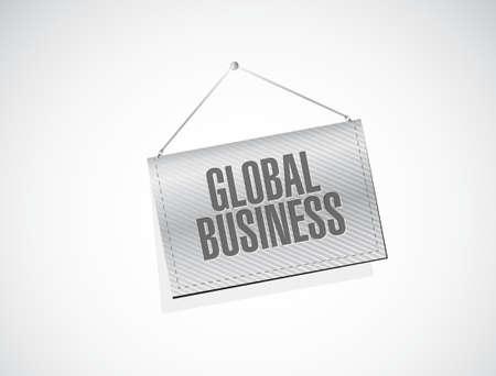 globális üzleti: global business banner sign concept illustration design graphic