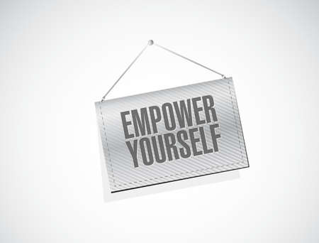 hanging banner: Empower Yourself hanging banner sign concept illustration design graphic