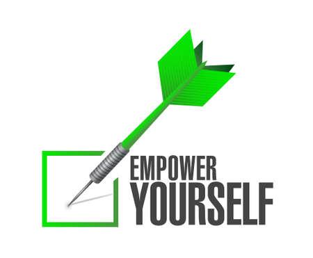 Empower Yourself check dart sign concept illustration design graphic Ilustração