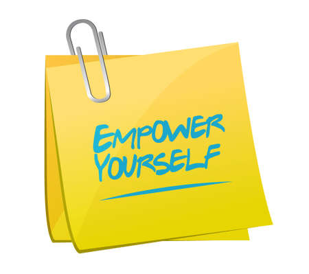Empower Yourself memo post sign concept illustration design graphic