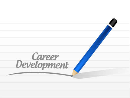 personal contribution: career development message sign concept illustration design graphic Illustration