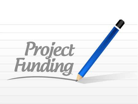 sponsorship: Project Funding message sign concept illustration design graphic