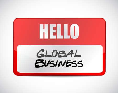globális üzleti: global business name tag sign concept illustration design graphic