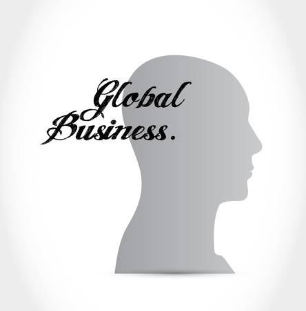 business mind: global business mind sign concept illustration design graphic