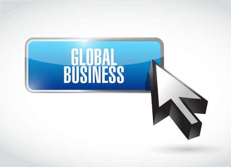 globális üzleti: global business button sign concept illustration design graphic Illusztráció